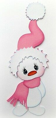 Snowman With Pink Hat Paper Piecing Premade 3D Die Cut My Tear Bears Kira