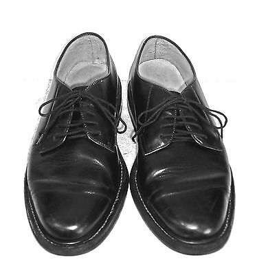 Reeds Mens Size 9 Black Leather Lace Up Oxford ,Casual Dress, Shoes Pre Owned