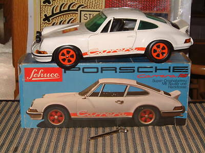 Schuco Porsche Carrera Rs! Rare, Vintage Clockwork 1:16 Scale W/original Box!