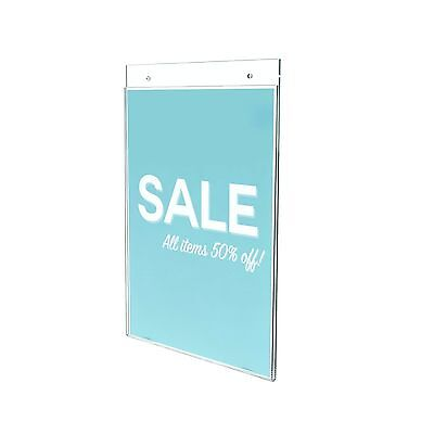 """Deflecto Classic Image Wall Mount Sign Holder 8.5"""" x 11"""" (68201) Vertical"""