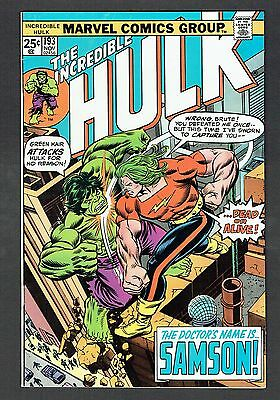 Incredible Hulk #193 Vs. Doc Samson Marvel Comics Bronze Age 1975 VF Battle Cvr