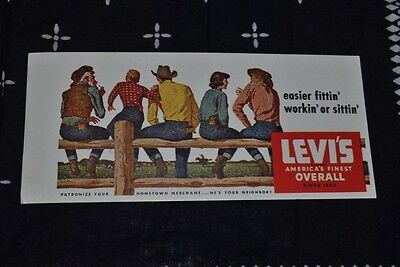 Vintage Levis Advertising Ink Blotter