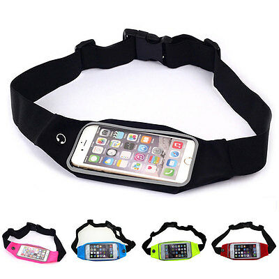 Running Fitness Bicycling Splash Proof Belly Waist Belt Bag Pouch For Cell Phone
