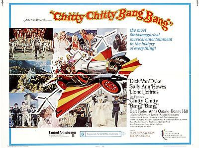 "Chitty Chitty Bang Bang 16"" x 12"" Reproduction Movie Poster Photograph"