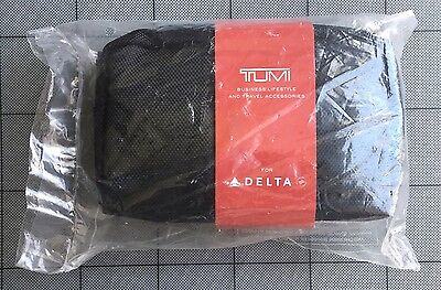 Delta Airlines TUMI Business Class Black Hard Case Travel Amenity Kit New Sealed