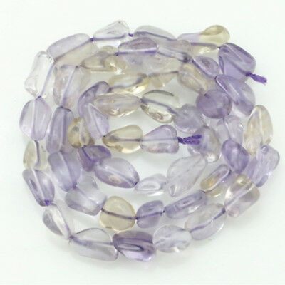 5-10mm Natural Ametrine Freeform Beautiful Chip Loose Beads Strand 15.5''