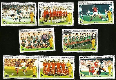 1986 World Cup Soccer Football Mexico Mint Stamps England Germany Denmark Korea