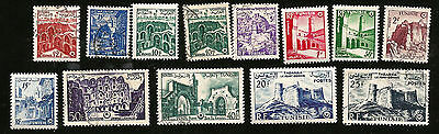 OLD STAMPS FROM TUNISIA MOSQUE HISTORIC SITES CASTLES FROM 1950s