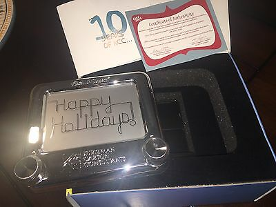 ETCH A SKETCH Silver Signature Edition With Stand Company Branded COA Included
