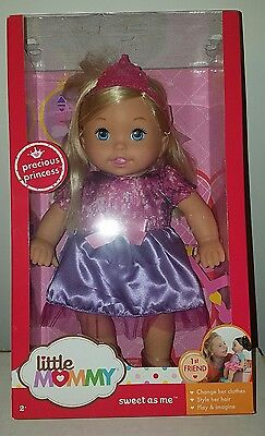 """NEW Fisher Price Little Mommy Sweet As Me 14"""" Precious Princess Doll Pink"""