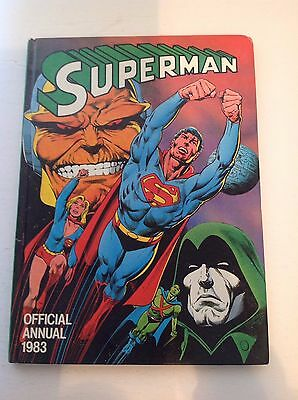 Superman Official Annual 1983 1984  UK London Hardcover Two Book Lot HTF