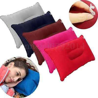 Inflatable Pillow Travel Air Cushion Camping Car Plane Sleep Head Rest Support