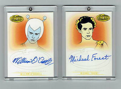 Star Trek Animated Adventure Series Autograph Cards X2