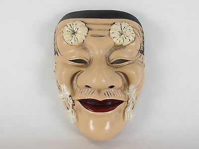 Japanese antique vintage clay pottery Chichinojoh Noh mask ornament chacha