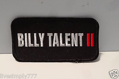 BILLY TALENT RARE PROMO II 4x2 IRON PATCH