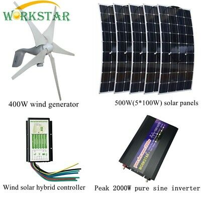 5 Blades 400W DC12-24V Wind Turbine Generator With Waterproof Charge Controller