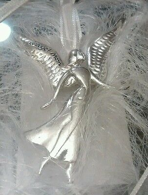 """SERENITY ANGEL BY SEASONS OF CANNON FALLS Ornament/Pin """"Angel Mom"""""""