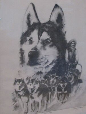 "Sled Dog Print ""All She Knew"" Ltd Ed S/N 95/250 - Judy Johnson"