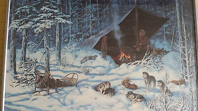 "Dog Sled Team Print ""Solitude"" S/N Limited Edition AP by Linda Glovic"