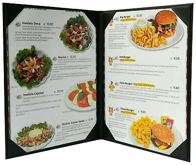 "New Menu Cover (Packed of 5 Pcs)8"" 1/2 X 11"" Inches, Double View,Sold By Case"