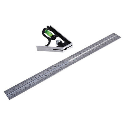 """300mm 12"""" Adjustable Engineers Combination Square Set Right Angle Ruler AM  Kits"""
