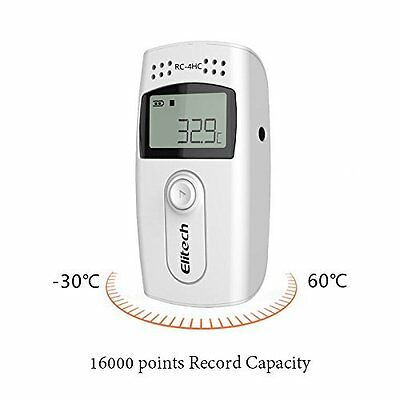 Elitech RC-4HC USB Temperature and humidity data logger/ recorder, 16000points R