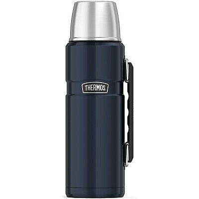 Brand New Thermos Stainless Steel King 40 Ounce Beverage Bottle, Midnight Blue