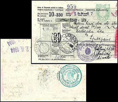 It029. Italian Occupation Yugoslavia Laibach Mo 1944 R!