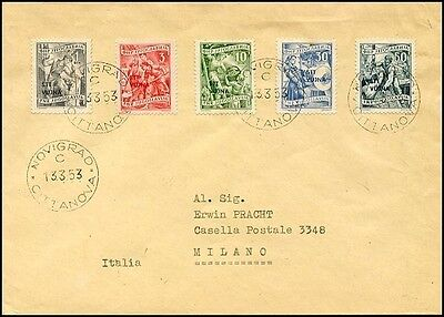 It172. Yugoslavia Triest B Zone Vuja-Stt Fdc Cover To Milano 1953 Novigrad