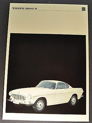 1968 Volvo 1800 S Sales Brochure Sheet Excellent Original 68