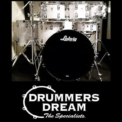 Ludwig Legacy Classic Maple Series 7 Piece Drum Kit Shell Pack in White Pearl