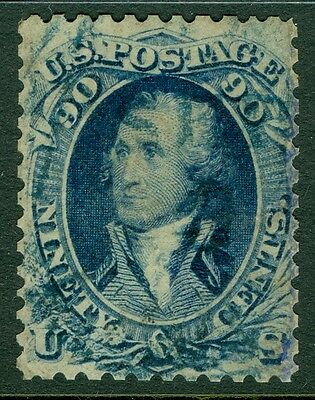 EDW1949SELL : USA 1861 Scott #72P3 India Proof rebacked, reperforated on 4 sides