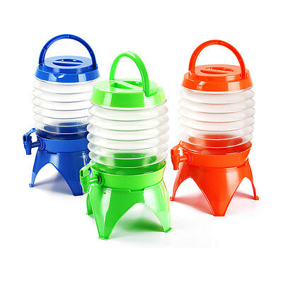 5L Hot Outdoor Folding Camping Water Bucket Carrier Dispenser Storage Tap 7077
