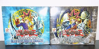 Legend of Blue Eyes & Metal Raiders (LOB  MRD) 2X NEW FACTORY SEALED BOOSTER BOX