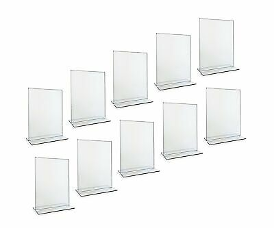 Beryland Acrylic Sign Holder - 5 x 7 inches - Side Insert, 10-Pack of Sign Ho...
