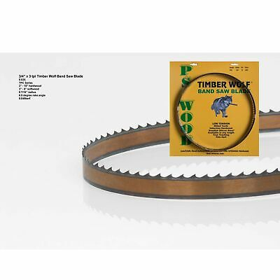 "Brand New Timber Wolf Bandsaw Blade 3/4"" x 93-1/2"", 3 TPI"