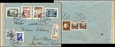 Sl197. Slovakia State Cover From Bratislava To Protectorate 1943 Censored