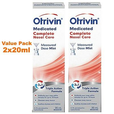 Otrivin® Medicated Complete Nasal Care Triple Action Formula. 2x20ml