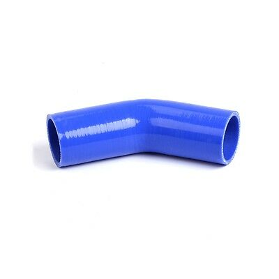 """1 /"""" ID25mm 45 Degree Silicone Elbow Coupler Intercooler Pipe Turbo Hose BLACK"""