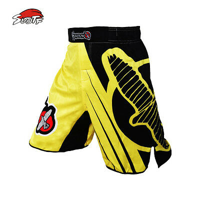 SUOTF MMA Kick Boxing Falcon Motion Training Muay Thai Shorts Trunk Sport Cotton