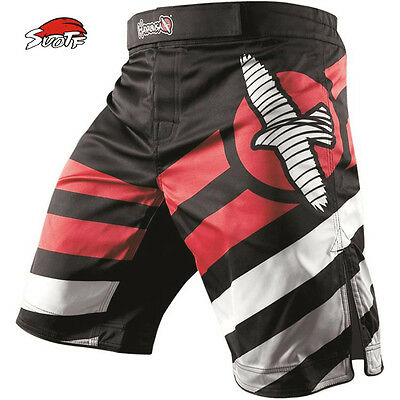 SUOTF Tiger Muay Thai Fightwear Elevate MMA Kick Boxing Fight Trunks Shorts