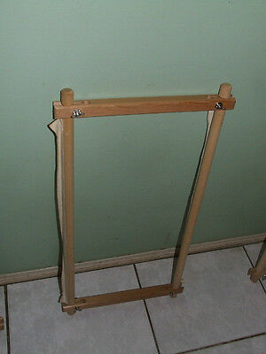"""Wooden Tapestry/Long Stitch Frame 20"""" (52cm) x 10"""" (26cm)  (a)"""