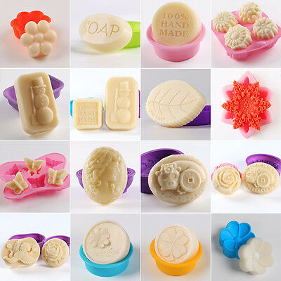 Soap Mold Flexible Silicone Mould For Chocolate Fondant Cake Candle Candy Craft