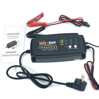 Waterproof 12V 2A/4A/8A Smart Car Battery Charger 7-Stage Maintainer&Desulfator