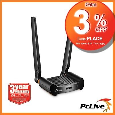 TP-Link Archer T4UHP 1300mbps High Power Dual Band Wireless USB 3 Adapter AC1300