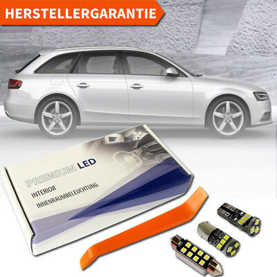 Audi A4 B8 8K5 Avant LED Innenraumbeleuchtung Premium 16 SMD Set weiß Canbus 8KH