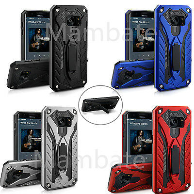For Samsung Galaxy S7/Edge Hybrid Future Armor Hard Case Cover With Kickstand