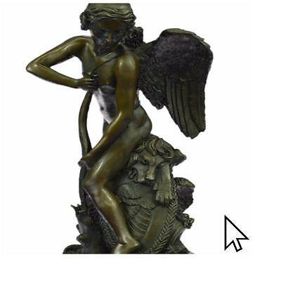 Angel Naked Art Deco Style /Signed Xmass 4 Your Love Bronze Sculpture Statue CB