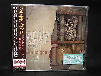 LAMB OF GOD VII : Sturm Und Drang + 2 JAPAN CD Megadeth Burn The Priest