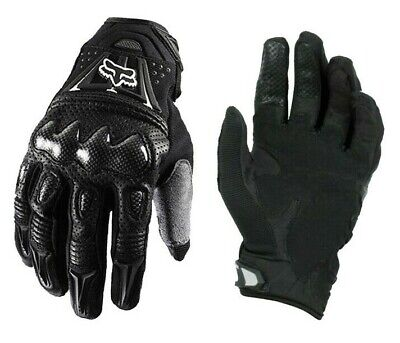 Full Finger Leather Motorbike Motorcycle Gloves Carbon Knuckle Racing Touring UK